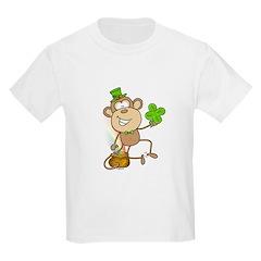Leprechaun Monkey Kids T-Shirt