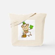 Leprechaun Monkey Tote Bag