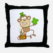 Leprechaun Monkey Throw Pillow