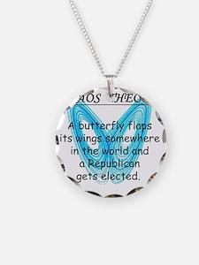 chaostheoryrepublicanwhite Necklace