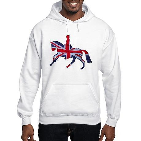 Dressage horse, rider, England Hooded Sweatshirt