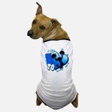 I Love to Cheer (Blue) Dog T-Shirt