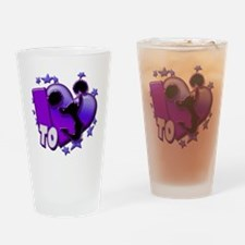 I Love to Cheer (Purple) Drinking Glass