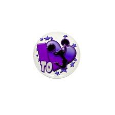 I Love to Cheer (Purple) Mini Button