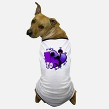 I Love to Cheer (Purple) Dog T-Shirt