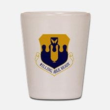 43rd Bomb Wing - Willing-Able-Ready Shot Glass