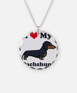 SS_I-Love-My-Dachshund-carto Necklace