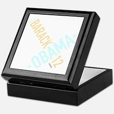 twisted-reelect-obama-black Keepsake Box
