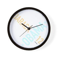 twisted-reelect-obama-black Wall Clock