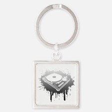 turntable2 Square Keychain
