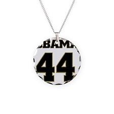 Obama 44 Necklace Circle Charm