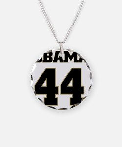 Obama 44 Necklace Circle Charm