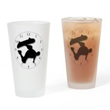 9in-SkateboardB Drinking Glass