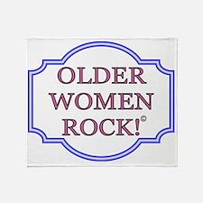 -older women rock1 Throw Blanket
