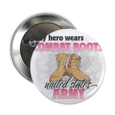 """Combat boots Army 2.25"""" Button"""