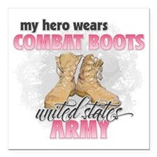 "Combat boots Army Square Car Magnet 3"" x 3"""