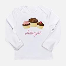 Personalized Chocolate Cupcake Long Sleeve T-Shirt