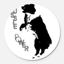 AustralianShepherd Round Car Magnet