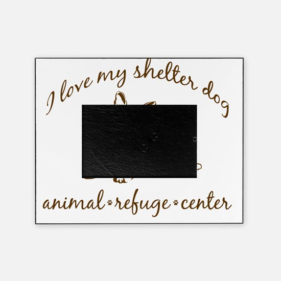 love my shelter dog brown Picture Frame