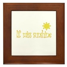 lil' miss sunshine Framed Tile