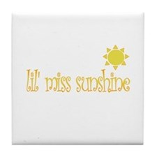 lil' miss sunshine Tile Coaster