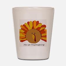 2-Baby My 1st Thanksgiving copy Shot Glass