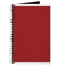 Black On Red Polka Dots Journal