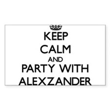 Keep Calm and Party with Alexzander Decal