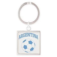 2-soccerballAR1 Square Keychain