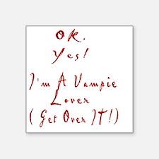 "Edward Vampire Lover Square Sticker 3"" x 3"""