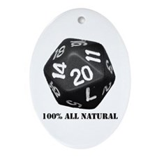 D20 Oval Ornament