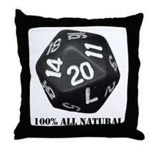 D20 Throw Pillow