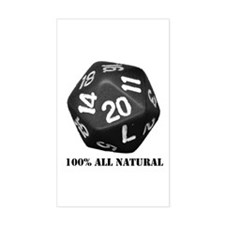 D20 Rectangle Decal
