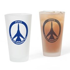 2-Peace The Old Fashioned Way - FB- Drinking Glass
