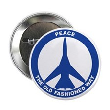 "2-Peace The Old Fashioned Way - FB-11 2.25"" Button"
