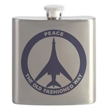 Peace The Old Fashioned Way - B-1B Blue Flask