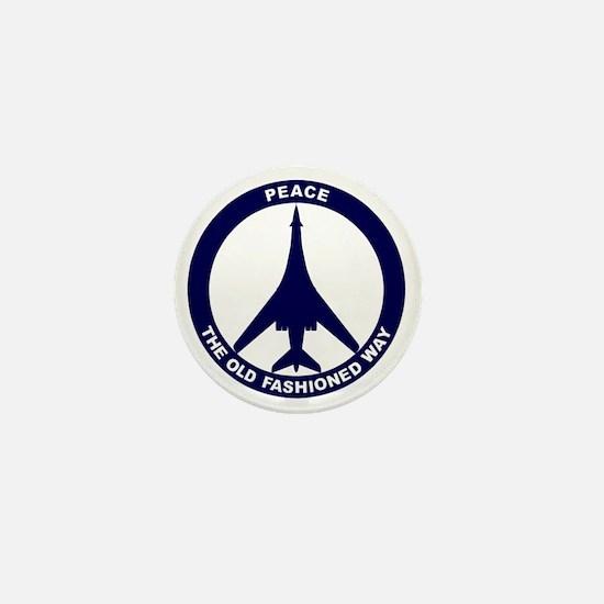 Peace The Old Fashioned Way - B-1B Blu Mini Button