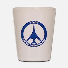 2-Peace The Old Fashioned Way - B-1B Bl Shot Glass