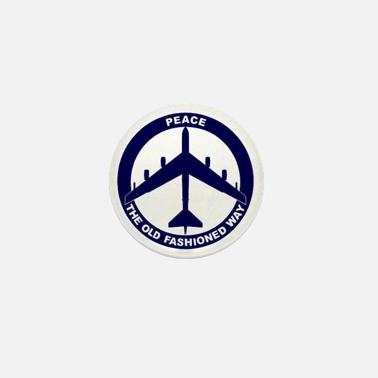 Peace The Old Fashioned Way - B-52G Bl Mini Button