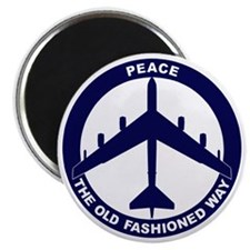 Peace The Old Fashioned Way - B-52G Blue Magnet