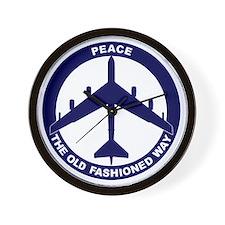 Peace The Old Fashioned Way - B-52G Blu Wall Clock