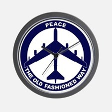 Peace The Old Fashioned Way - B-52G Blu Wall Clock