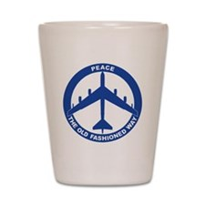 2-Peace The Old Fashioned Way - B-52G B Shot Glass