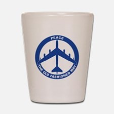 2-Peace The Old Fashioned Way - B-52G B Shot Glass