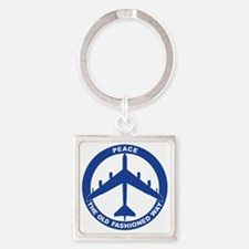 2-Peace The Old Fashioned Way - B- Square Keychain