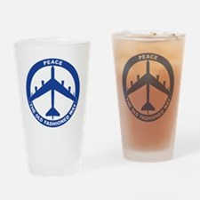 2-Peace The Old Fashioned Way - B-5 Drinking Glass