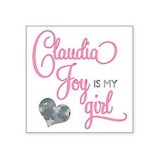 """RoxyisMyGirl_ClaudiaJoy Square Sticker 3"""" x 3"""""""