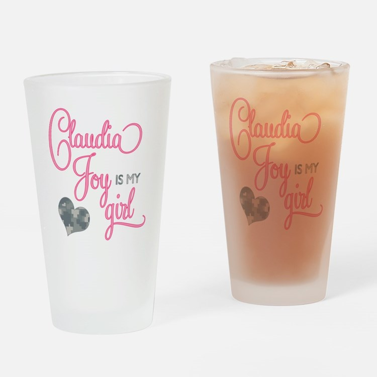 RoxyisMyGirl_ClaudiaJoy Drinking Glass