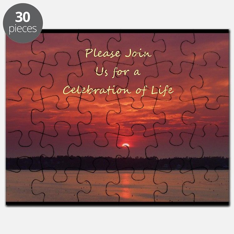 Celebration of Life Invitations Puzzle