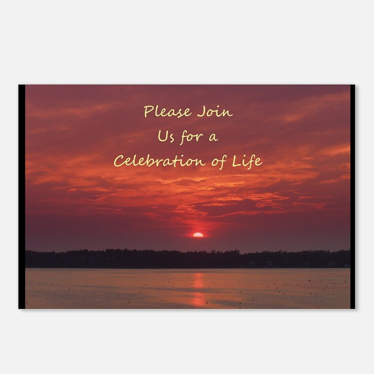 Celebration of Life Invit Postcards (Package of 8)